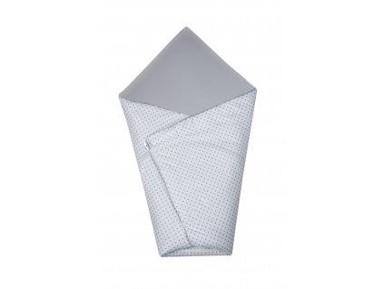 Zavinovačka Maceshka basic bílá, šedý puntík