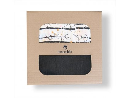 Povlečení Maceshka Nature bavlna Bamboo, mušelín noir