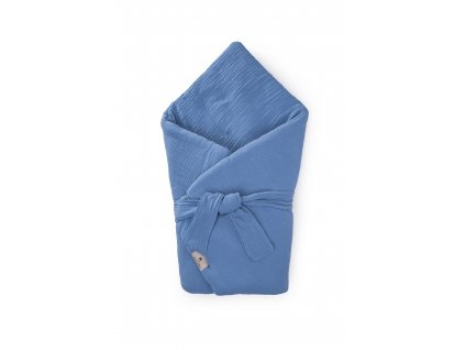 Zavinovačka Maceshka mušelín blue jean s páskem