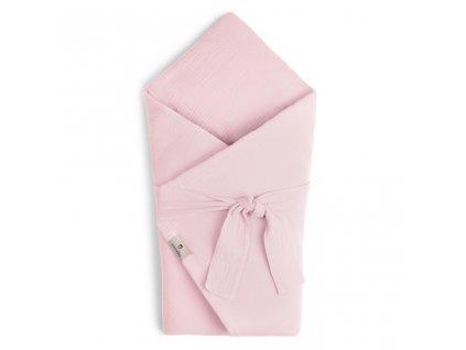 Mušelínová zavinovačka Maceshka s páskem rose blush