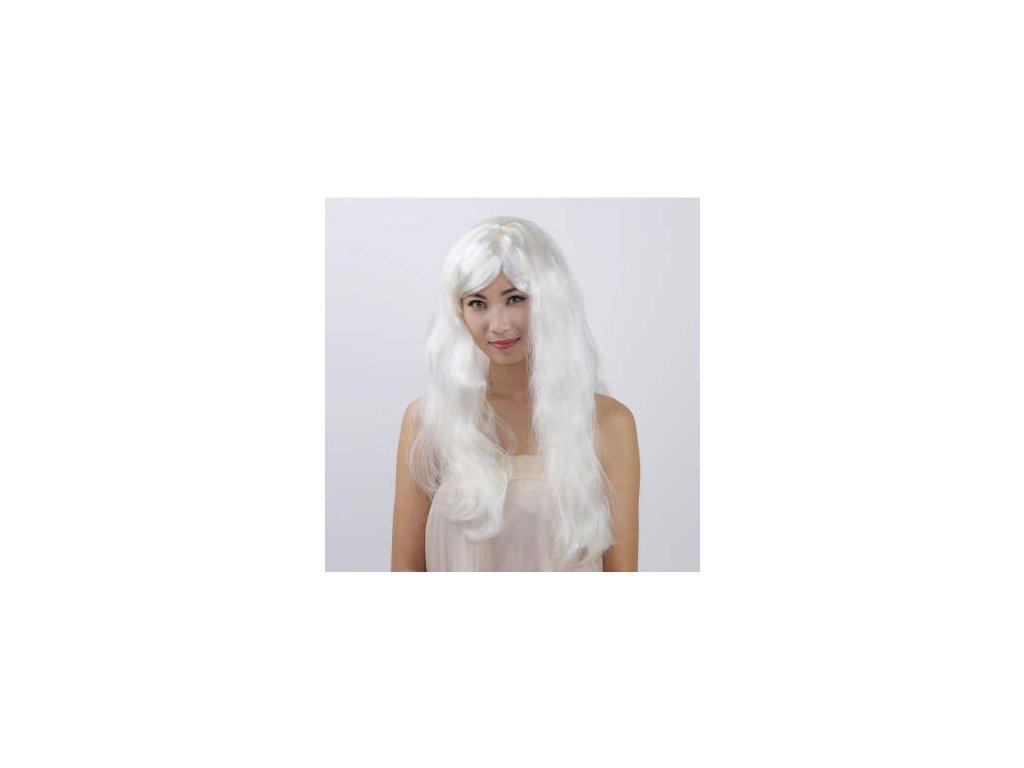 Paruka - Dlouhé Bílé Vlasy