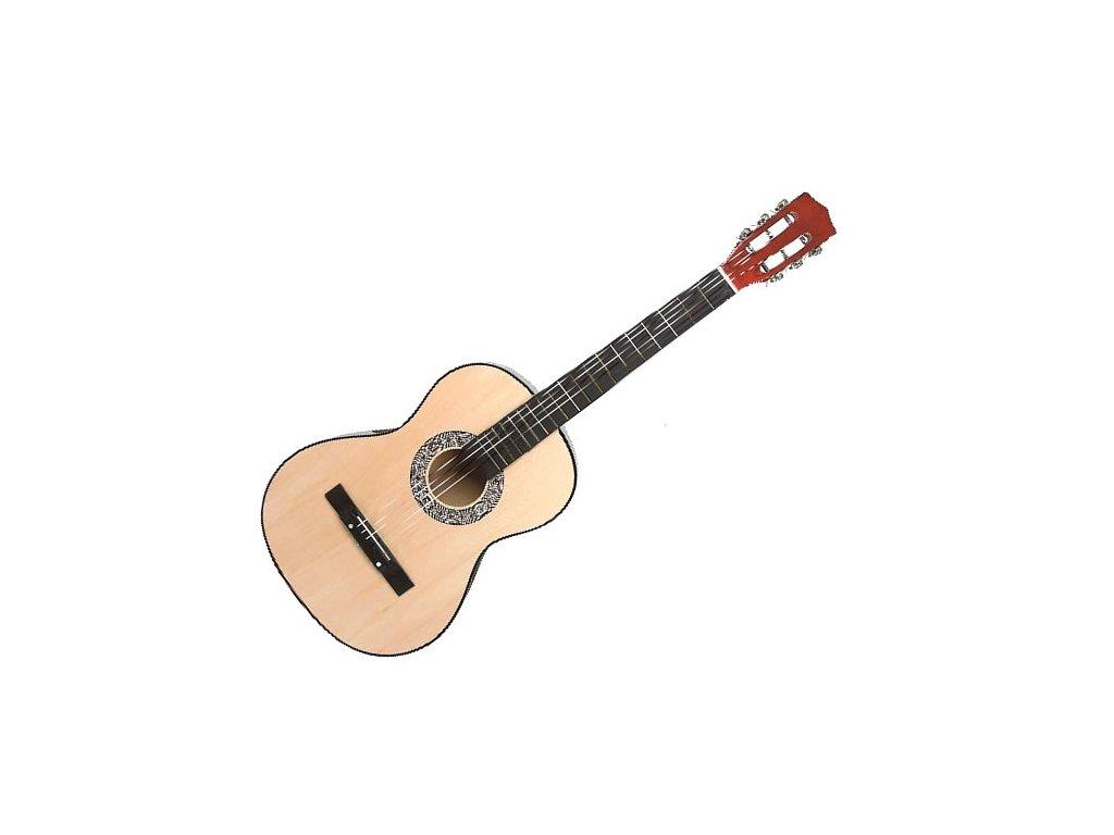 Dětská Dřevěná Kytara - 54 Cm (Barva Náhodná barva)