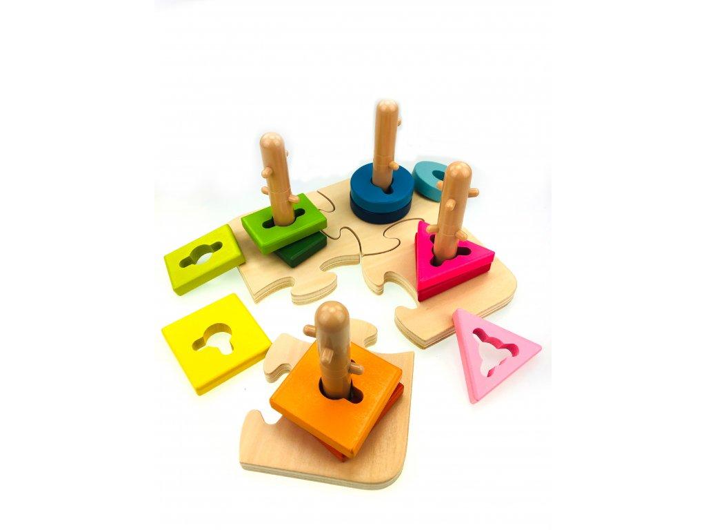 Interaktivní Puzzle s Geometrickými Tvary