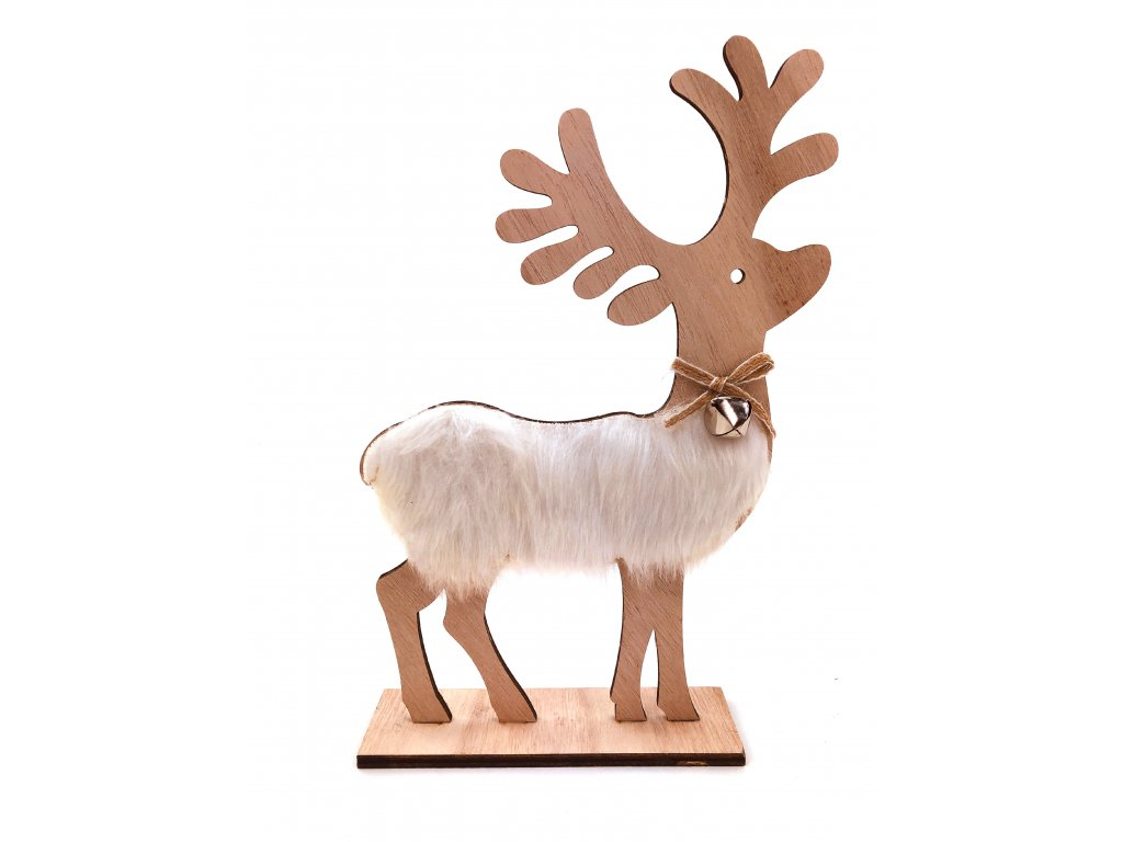 152135 drevena svitici dekorace sob s rolnickou 30 cm