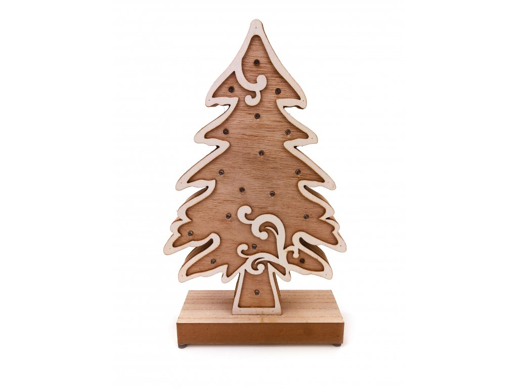 152120 drevena svitici dekorace vanocni strom 33 cm