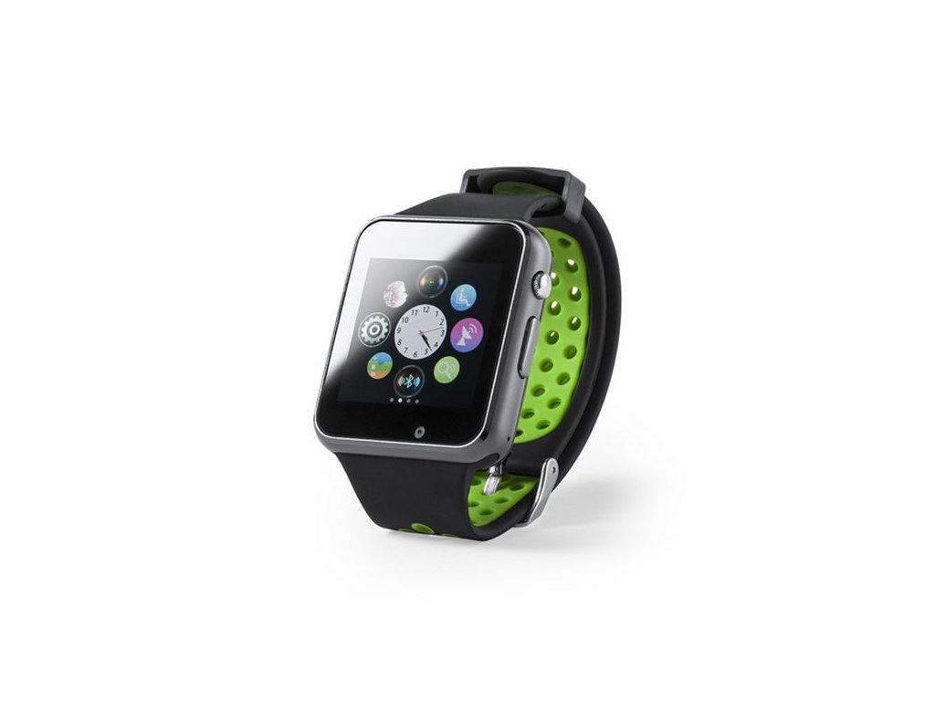"Chytré hodinky 1,54"" LCD Bluetooth - Zelené"