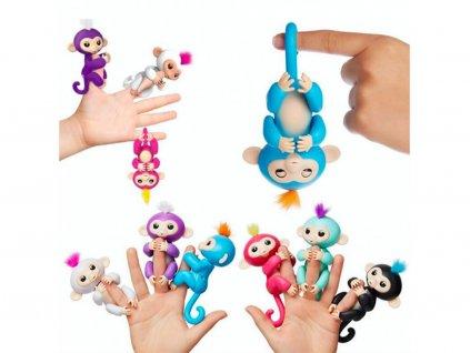 Interaktivní opičky Happy Monkey - FINGERLINGS (Opicka Tyrkysová)