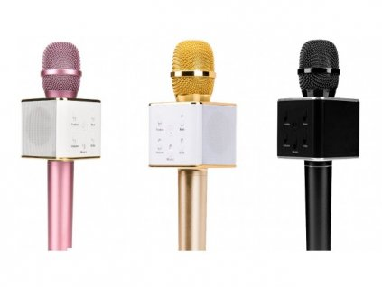 Q7 Mini Karaoke Player Wireless Condenser Microphone with Mic Speaker qatar price online shop 650x489