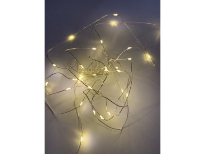 Venkovní vánoční mikro řetez - Teplá bílá 50 až 250 led (Osvětlení Teplá bílá 10m - 100 led diod)
