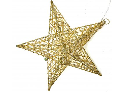153242 vanocni svitici dekorace hvezda 16 cm zlata