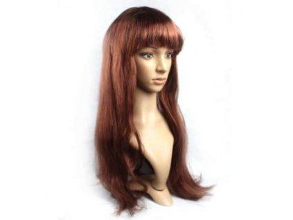 Paruka - Dlouhé Mahagonové Vlasy