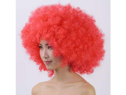 Paruka Afro - Červená