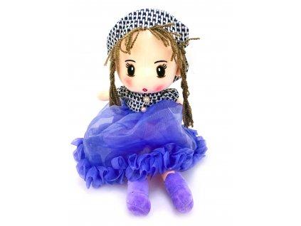 Plyšová panenka ve fialových šatech (50 cm)