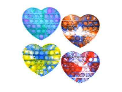 hra pop it antistresova bubble pops silikon srdce vicebarevny spolecenske hry