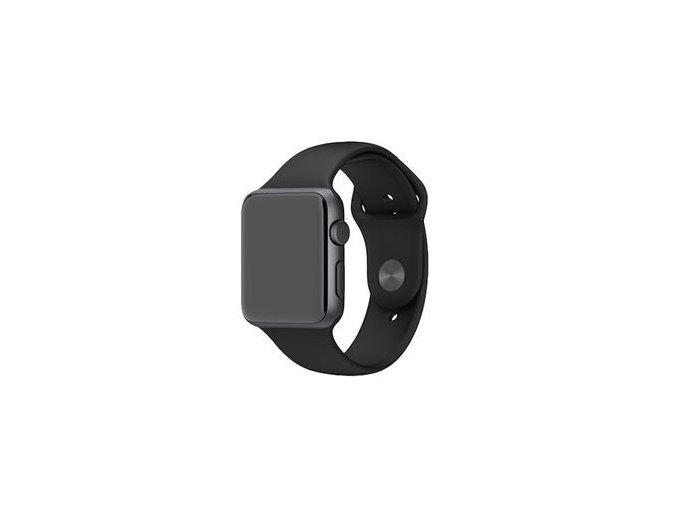 apple watch 38 mm černy silikon