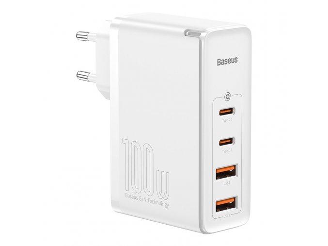 Rychlonabíjecí adaptér GaN2 | 2x USB + 2x USB-C 100W | Baseus