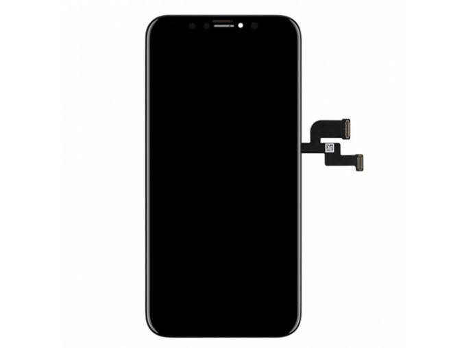 nahradni oled displej s dotykovym sklem a rameckem pro apple iphone x top kvalita cerny 2