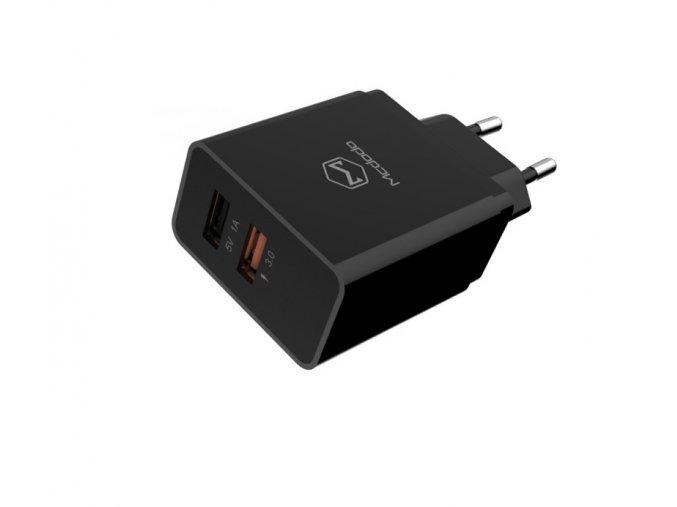 mcdodo qc3 0 1a dual usb ports charger eu plug black