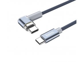 hoco 87w angled magnetic cable type c metal gray