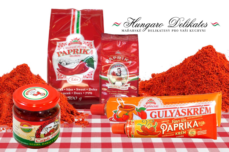 Maďarská paprika v mnoha podobách