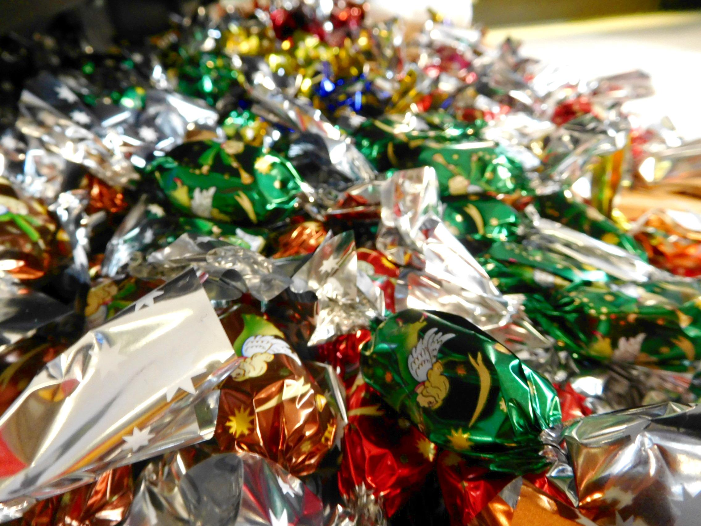 vánoční bonbóny, salonky
