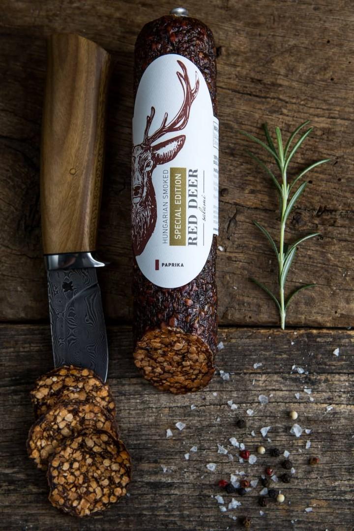 Venison gusto 100% jelení paprikový salám
