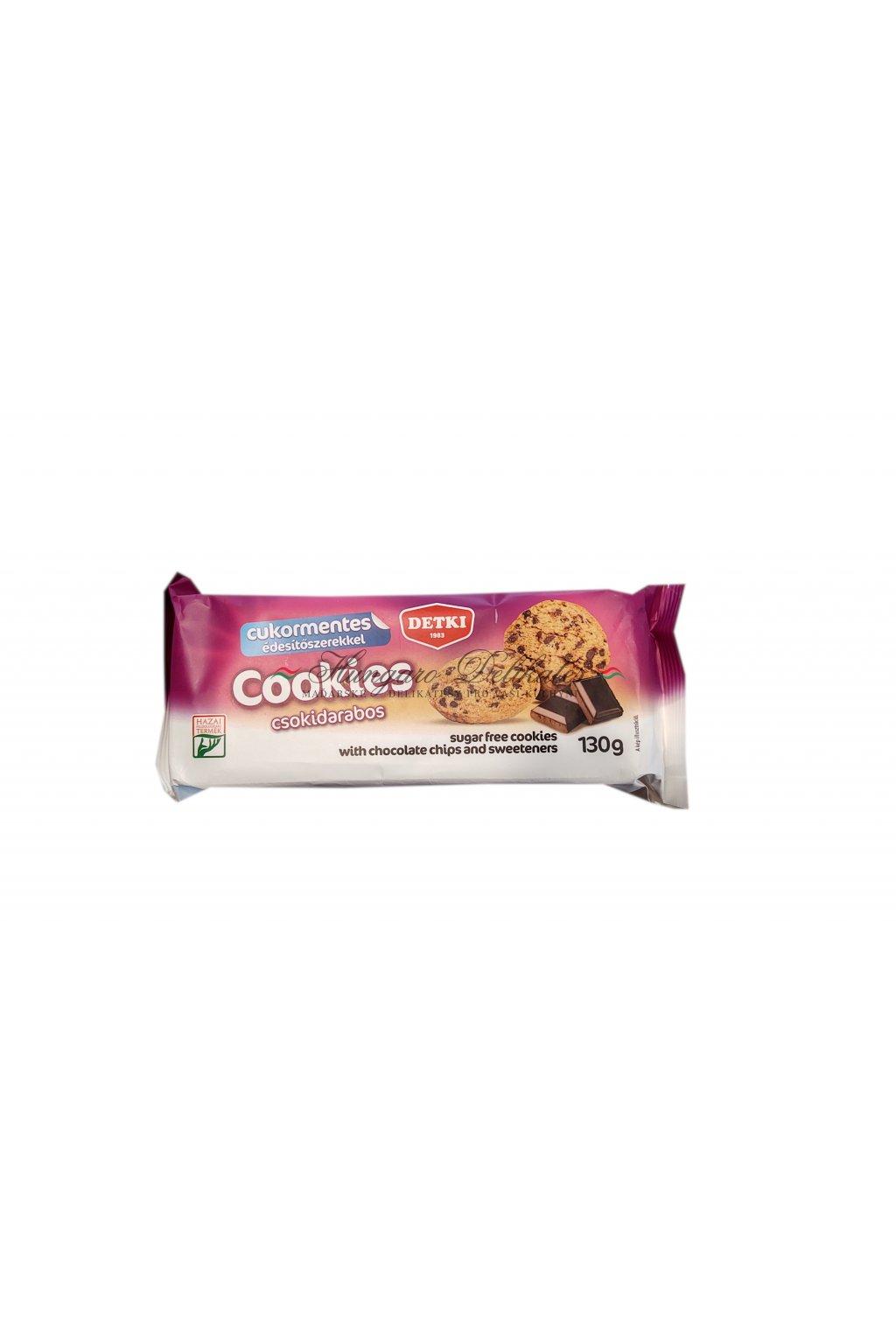 Cookies s kousky čokolády, bez cukru