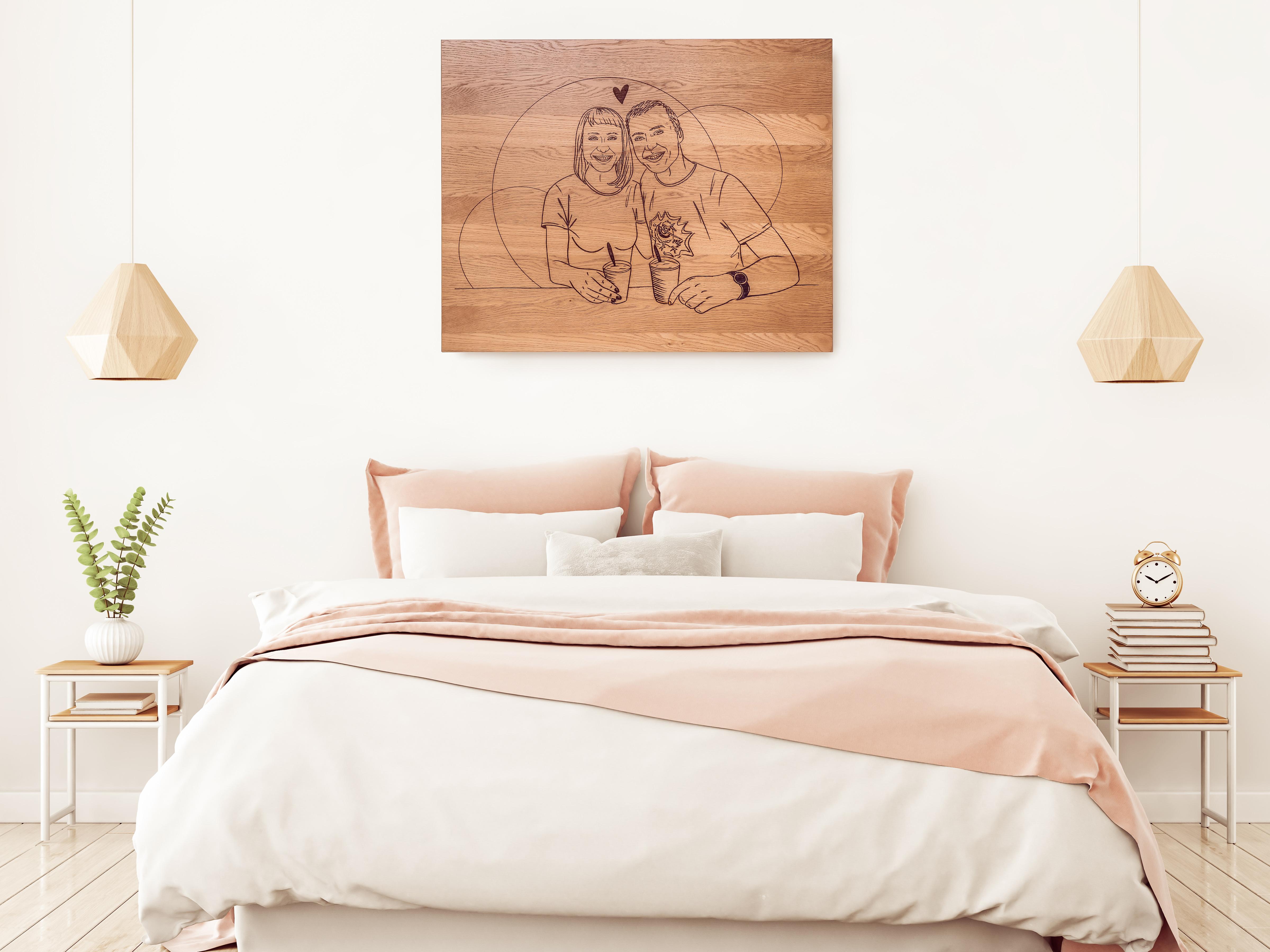 Dřevěné dekorace na zeď