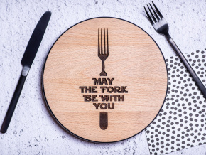 May the FORK be with you  Star Wars dřevěné prkénko