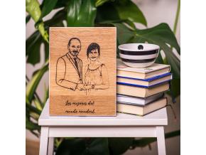 Portrét do dřeva