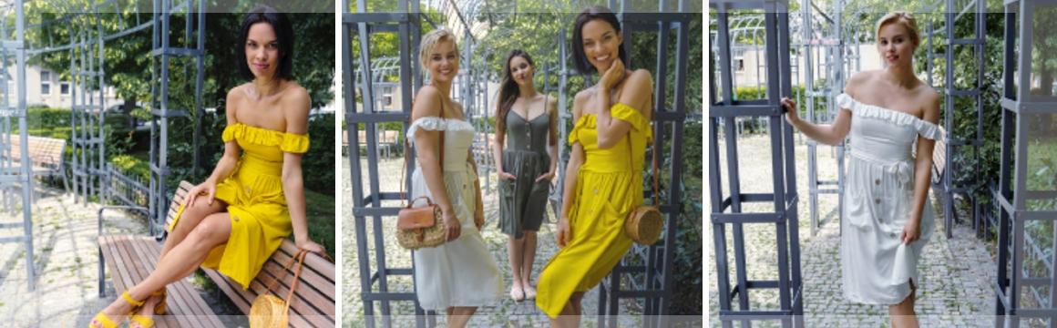 Letní šaty s volánky a kapsami
