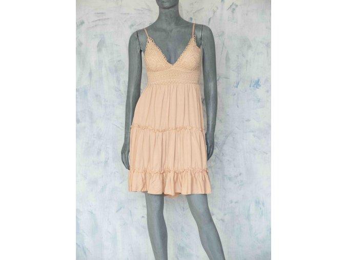 šaty s háčkovaným topem