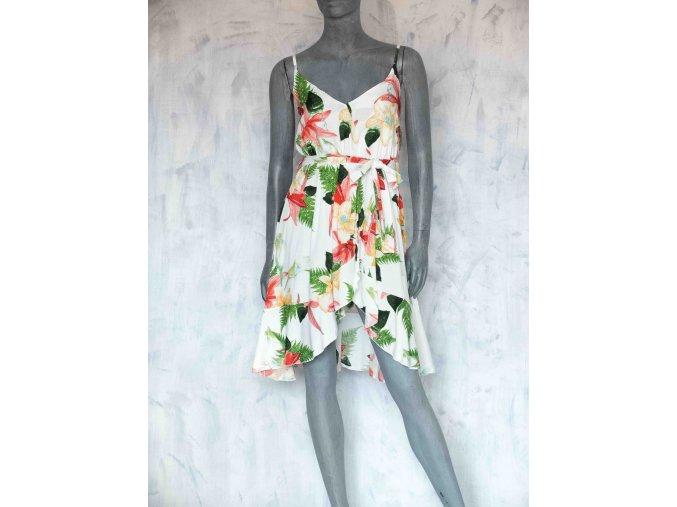 květované šaty s volánky