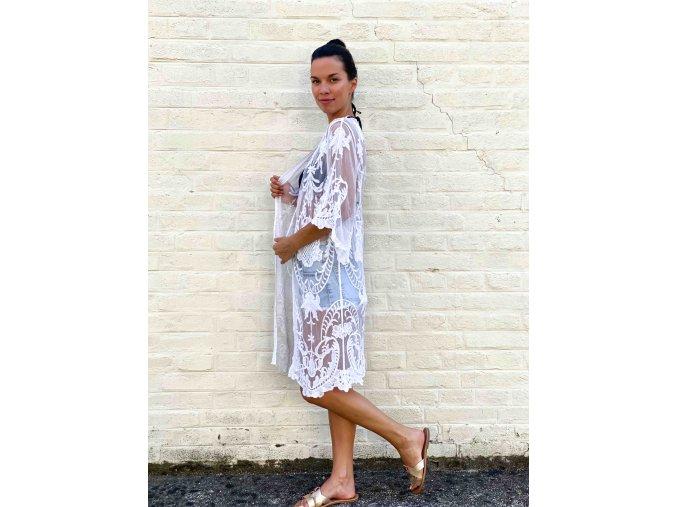 dlouhé krajkované kimono