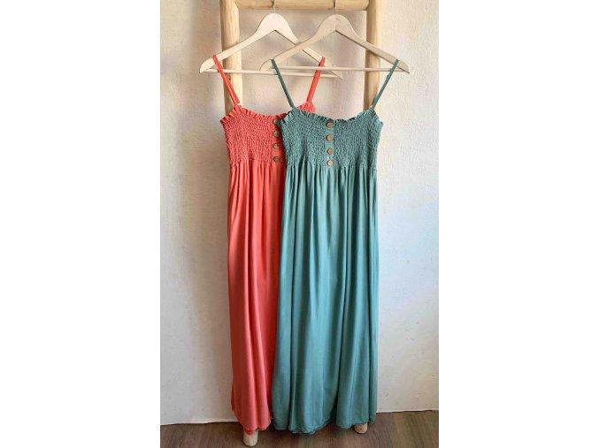dlouhé šaty s knoflíky