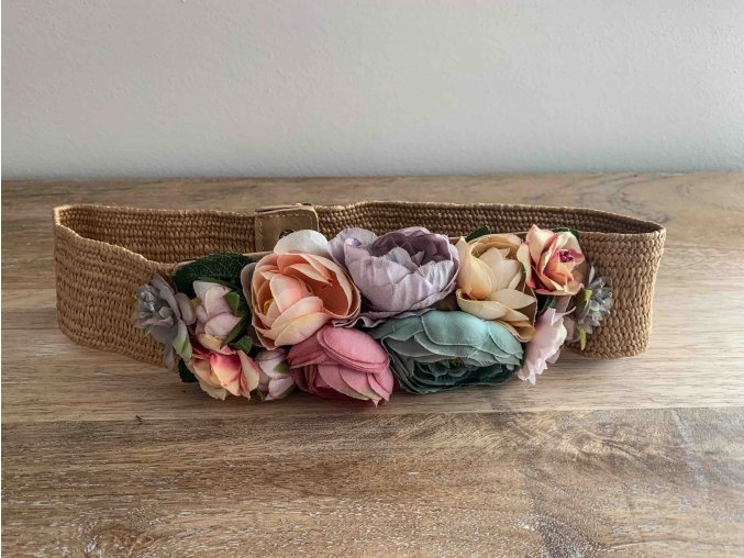 elastický pásek s květy
