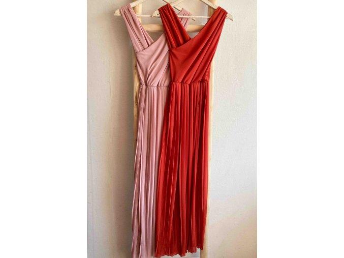 dlouhé plisované šaty cruz