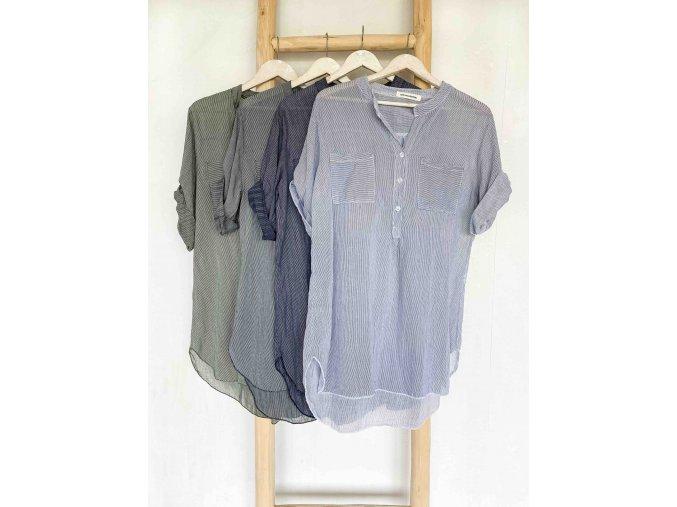 Dlouhá proužkovaná košile