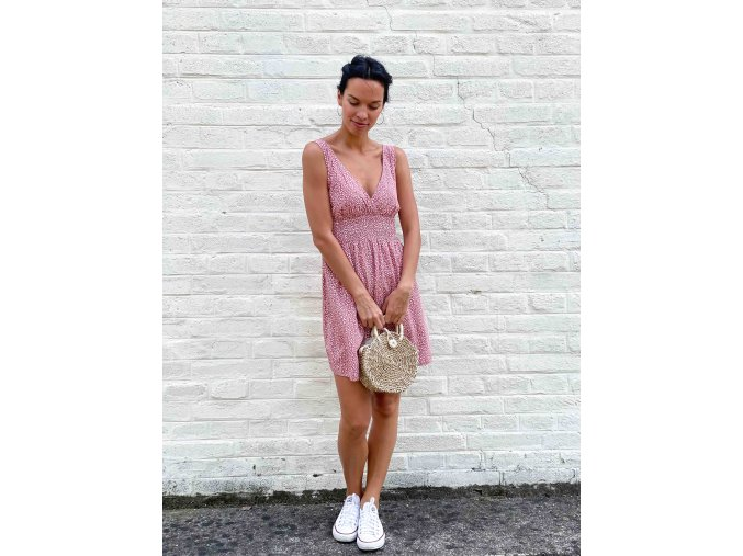 květované šaty Vivien