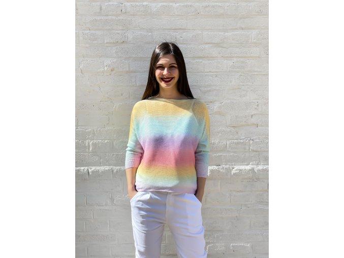lehký svetřík Rainbow