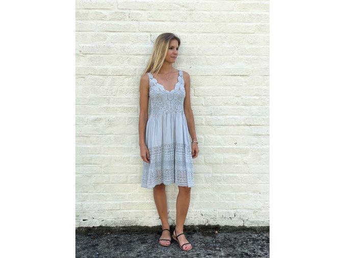 háčkované šaty Tina