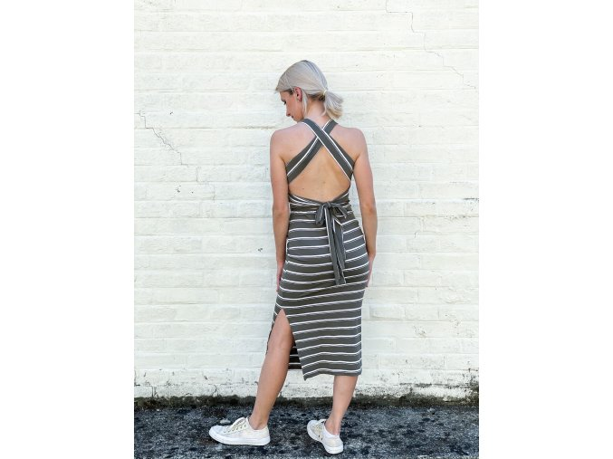 proužkované šaty Moni