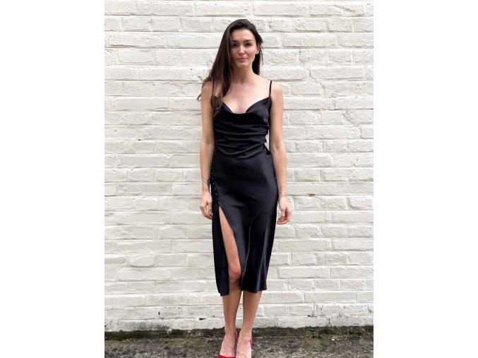 saténové šaty Bella