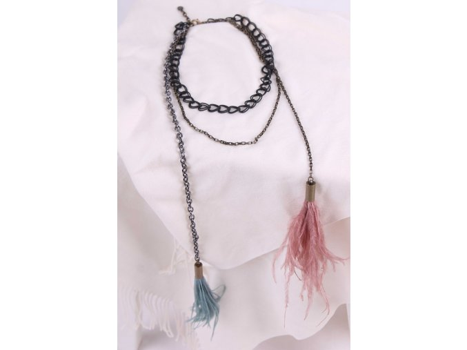 náhrdelník s peřím