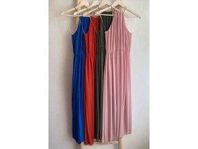dlouhé plisované šaty