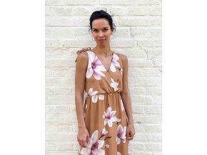 květované šaty Maurice