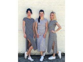 dlouhé šaty Navy