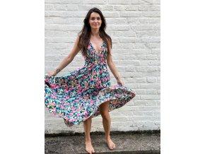 květované šaty Anavi