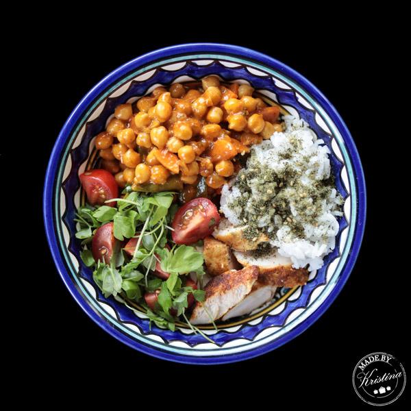 #Teplý cizrnový salát