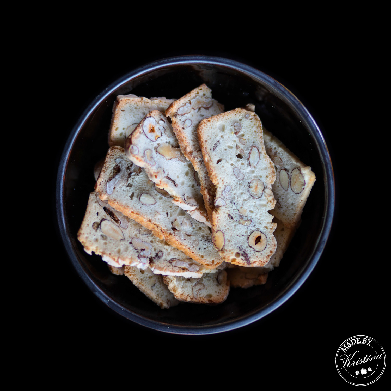 #Bílkové sušenky s ořechy